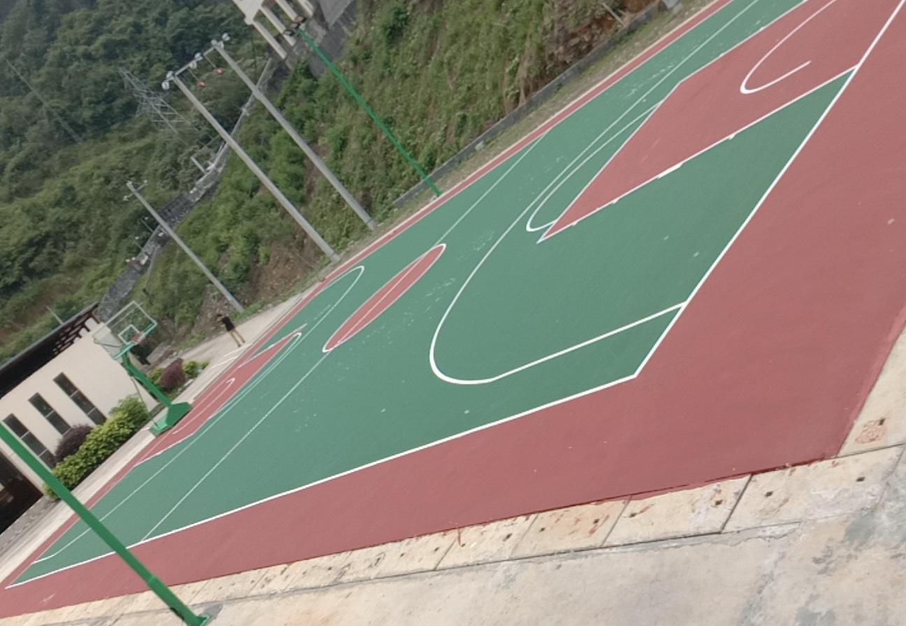 广西丙烯酸篮球场